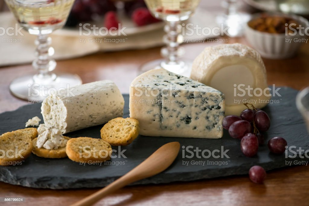 Cheese Appetizers at Cocktail Party stock photo