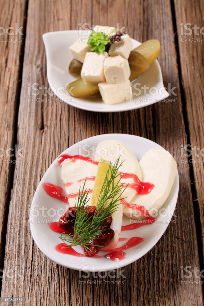 Cheese appetizers royalty-free stock photo