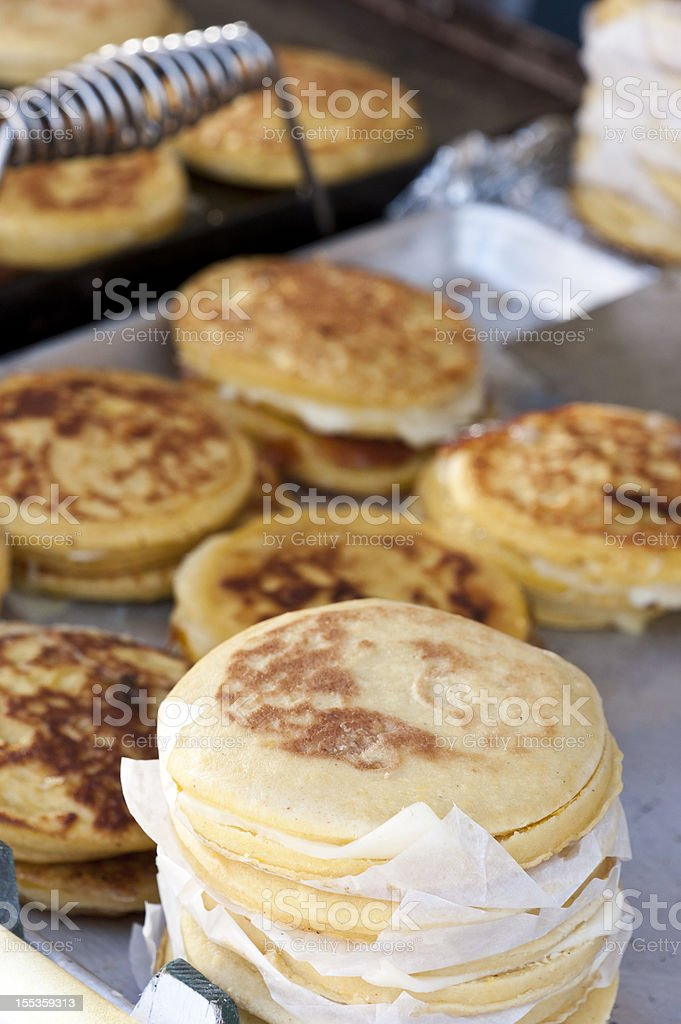 Cheese Arepas stock photo