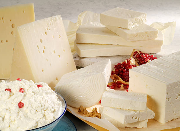 Cheese assortment stock photo