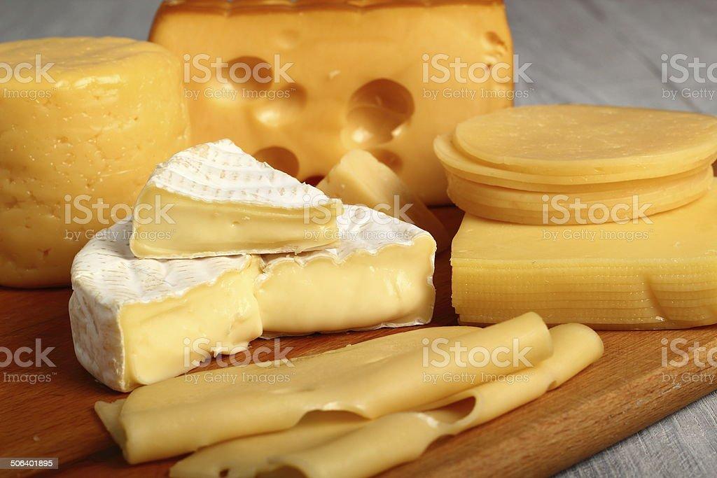 Cheese Assortments. Still Life. stock photo