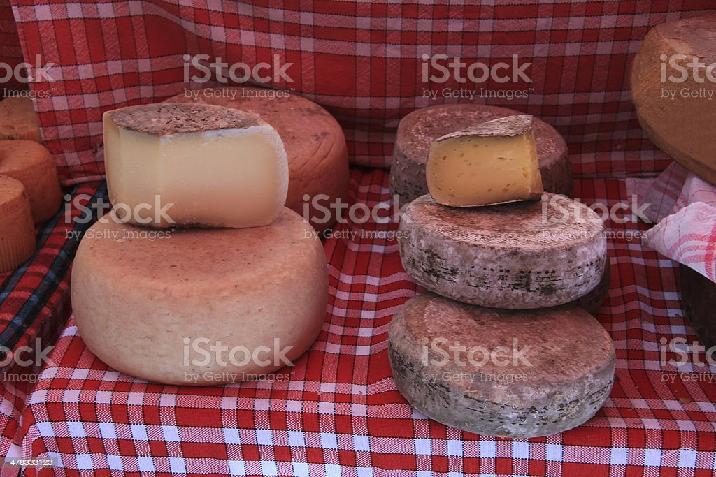 Cheese at a French market royalty-free stock photo