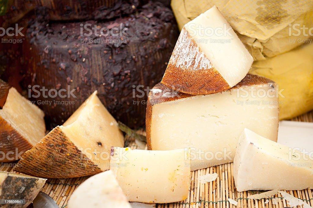 Cheese at a market royalty-free stock photo