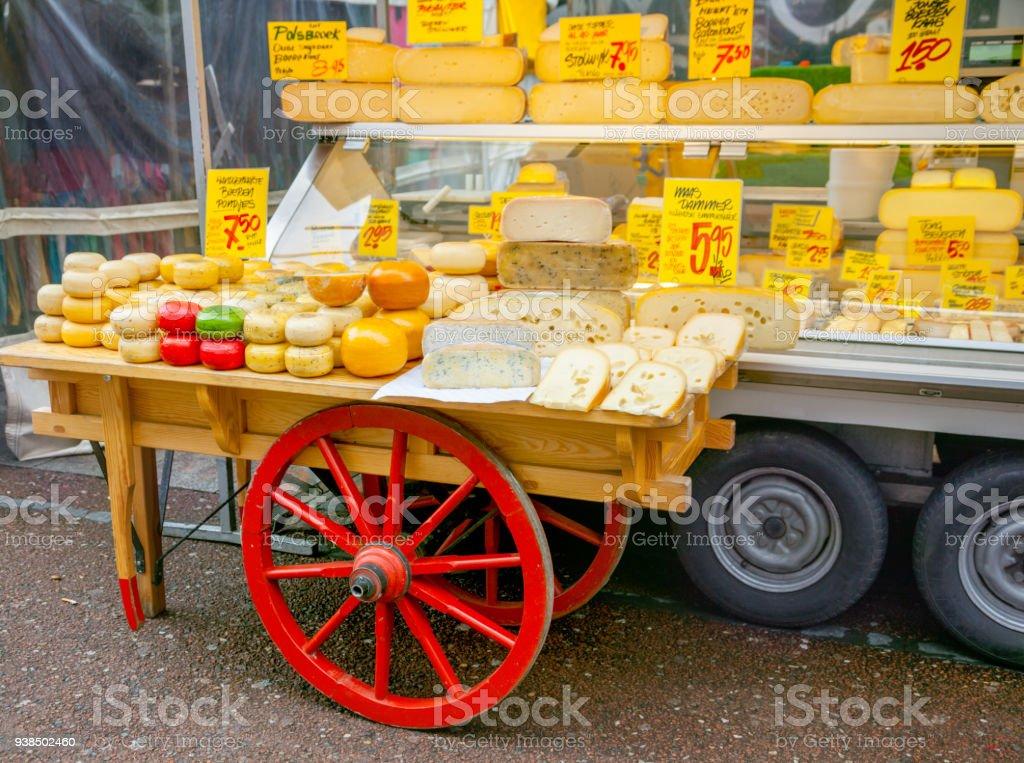 Kaas op de markt foto
