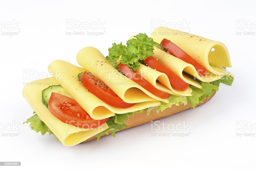 Cheese baguette royalty-free stock photo
