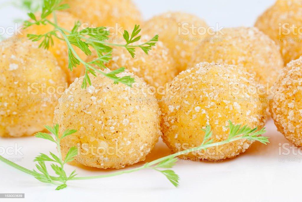 Cheese Balls macro stock photo
