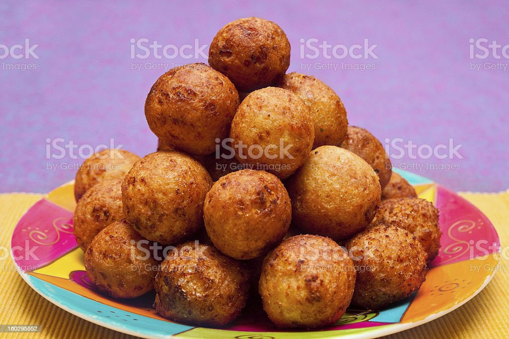 Cheese balls on plate royalty-free stock photo