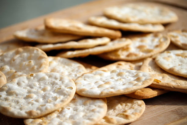Cheese Biscuit Crackers stock photo