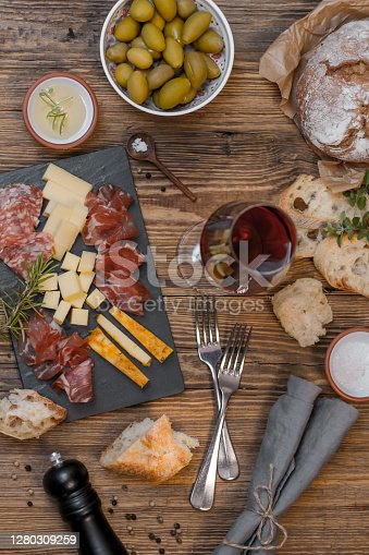 Cheese Board and Cold Cuts for Wine Tasting
