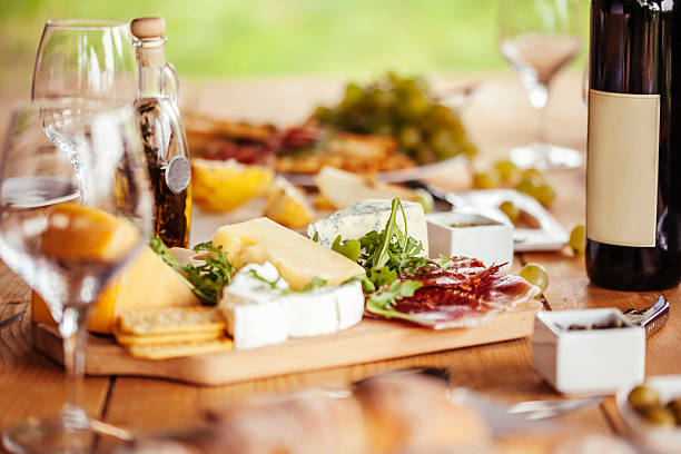 Cheese Board And Red Wine – Foto