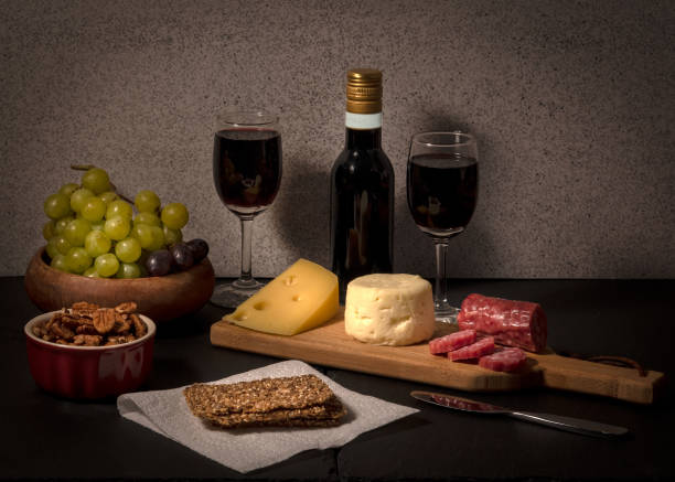 Cheese board for two stock photo