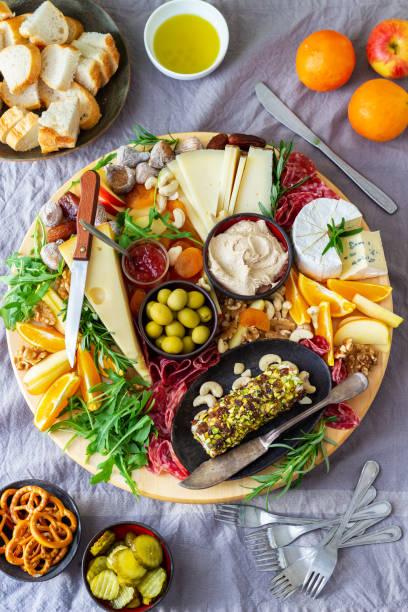 Cheese Board Platter stock photo