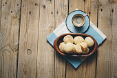 Cheese Bread, Pao de Queijo, coffee