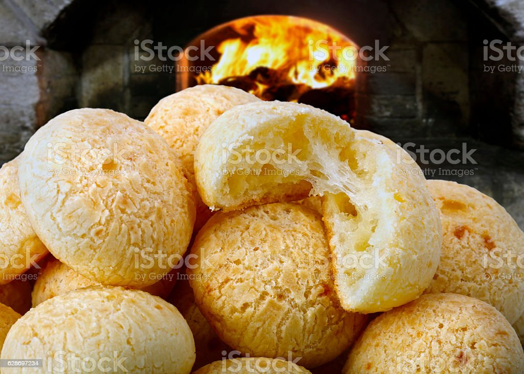 Cheese bread stock photo