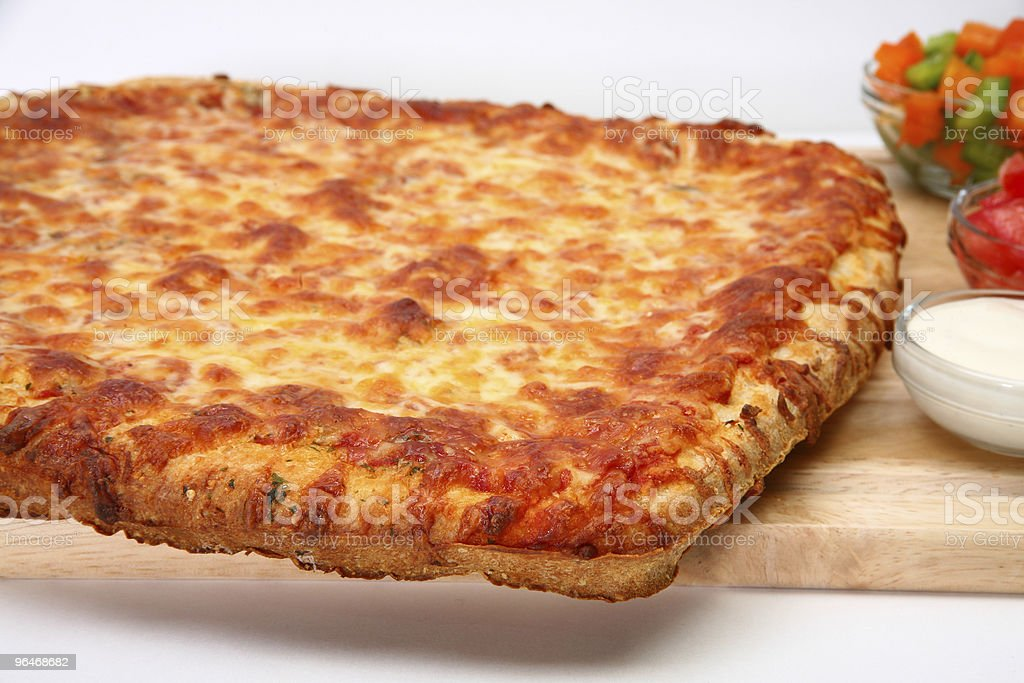 Cheese Bread Pizza royalty-free stock photo
