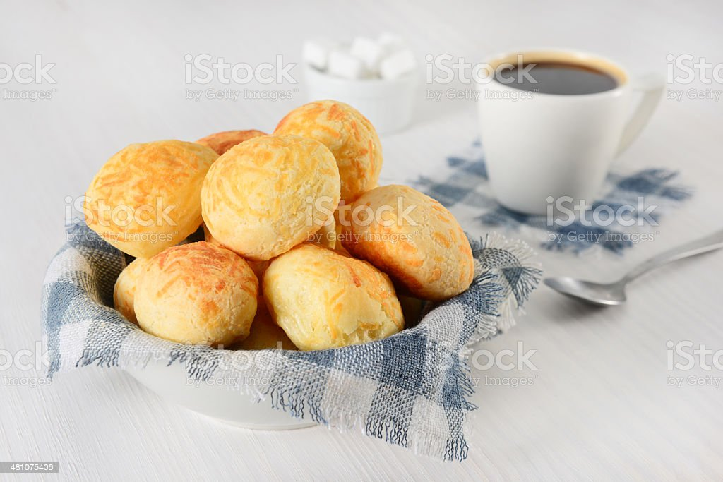 Cheese breads stock photo
