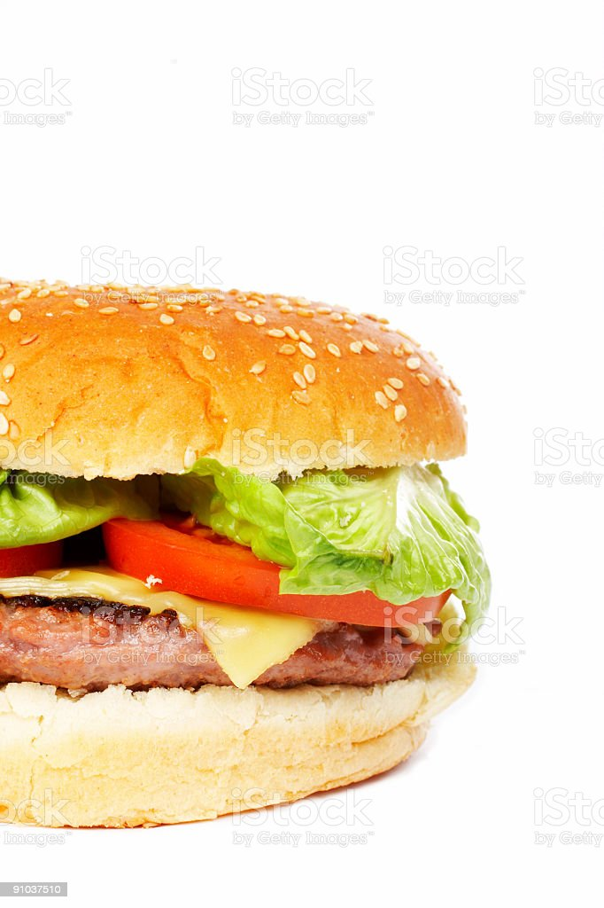 Cheese burger royalty-free stock photo