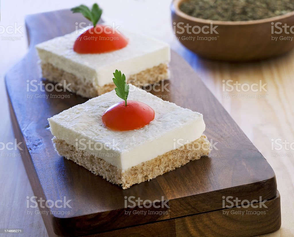 Cheese Canepe royalty-free stock photo