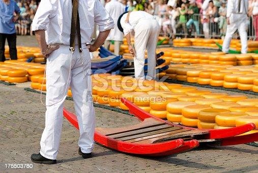 Cheese carries in Alkmaar cheese market