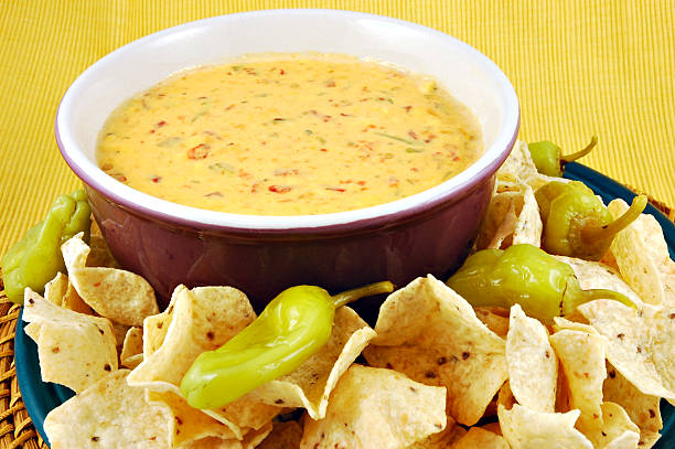 Queso & Chips stock photo