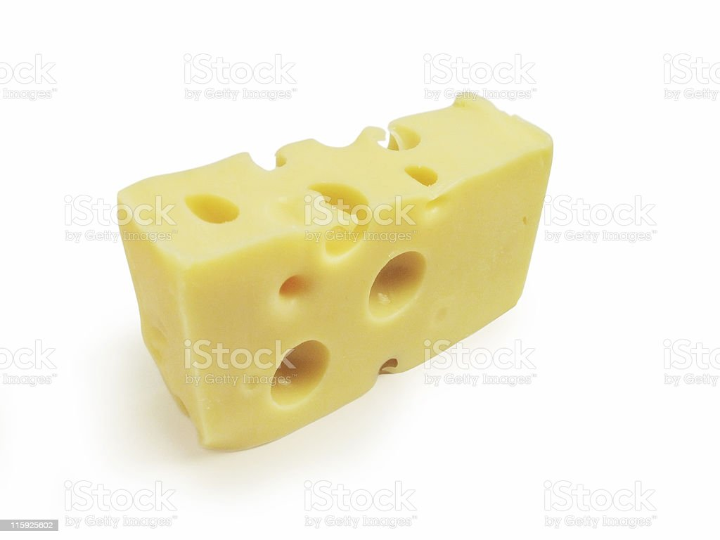 Cheese (Isolated) - Clipping Path royalty-free stock photo