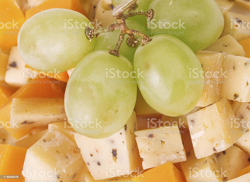 Cheese cubes royalty-free stock photo