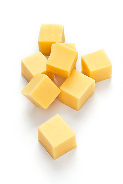 cheese cubes - cube shape stock pictures, royalty-free photos & images
