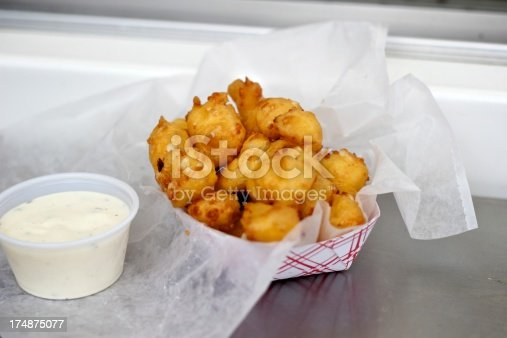 Cheese curds with some tasty ranch on the side.