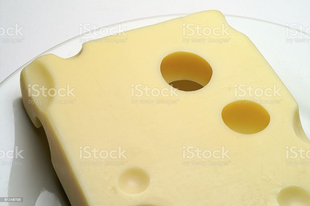 Cheese: Emmental royalty-free stock photo
