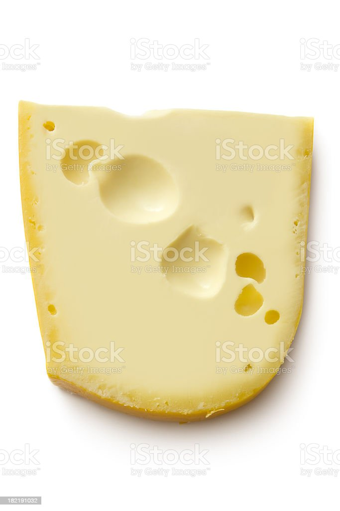 Cheese: Emmentaler royalty-free stock photo