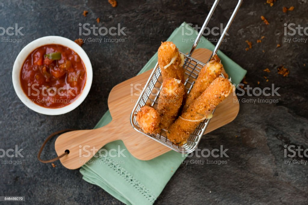 Cheese Finger on Basket stock photo