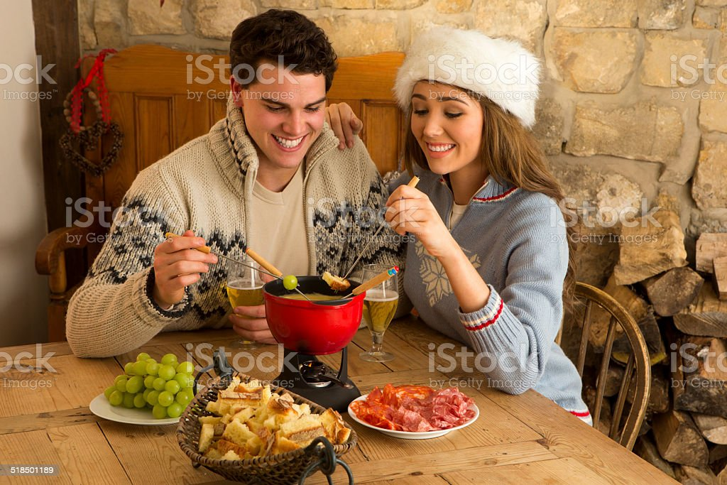 Cheese Fondue for Two stock photo