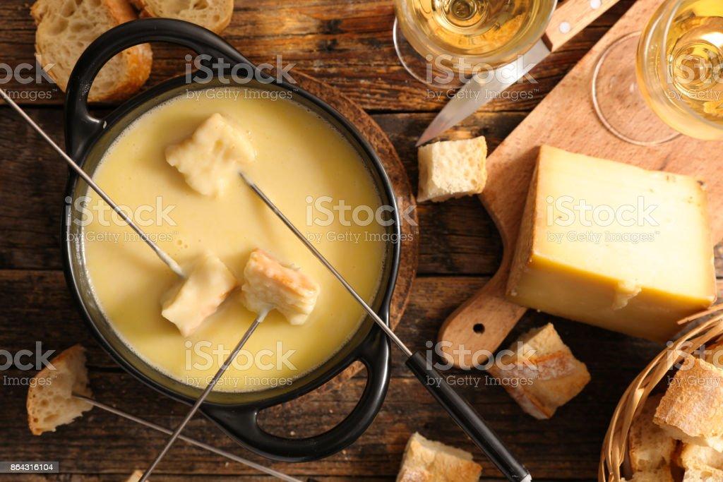 cheese fondue,french gastronomy stock photo