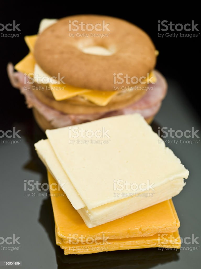 cheese for sandwiches stock photo