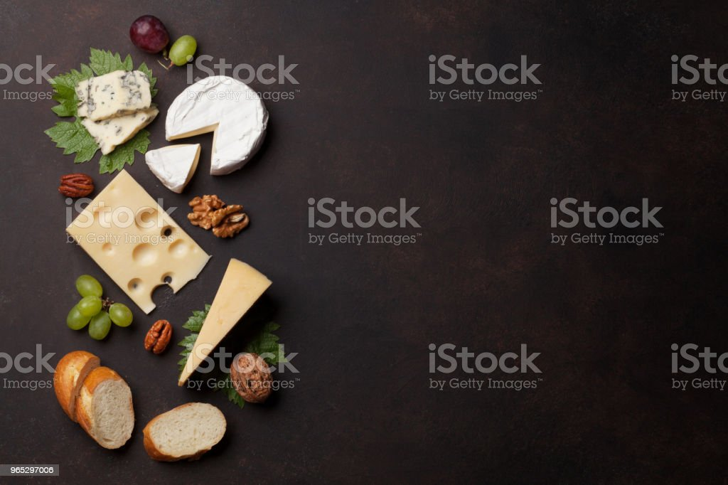 Cheese, grapes and nuts royalty-free stock photo