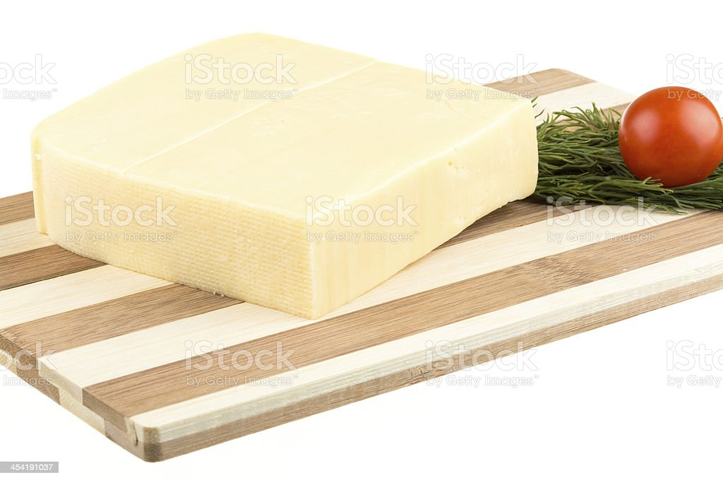 cheese isolated on white background royalty-free stock photo