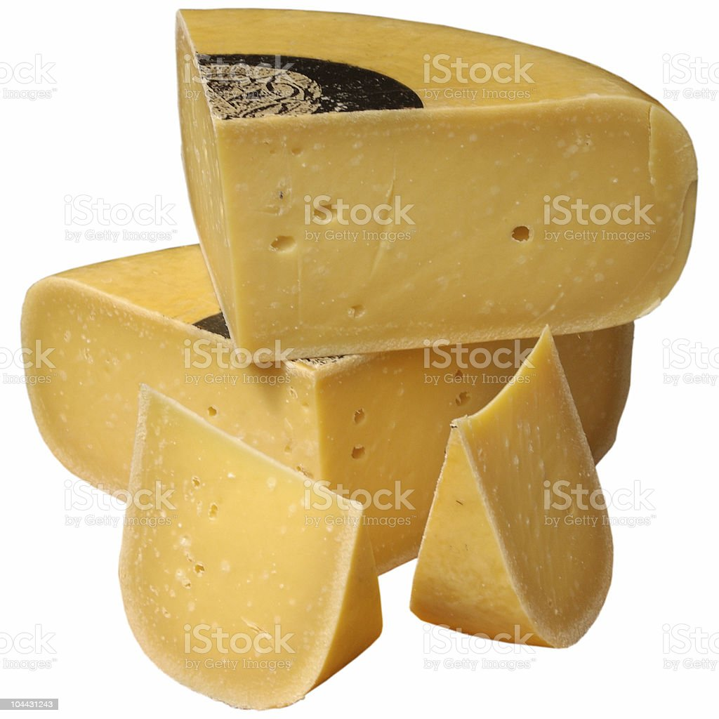 Cheese Isolated on White stock photo