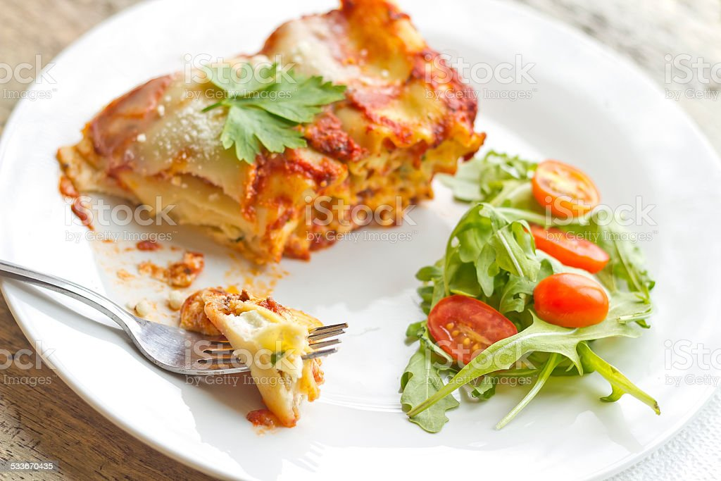 Cheese Lasagna stock photo
