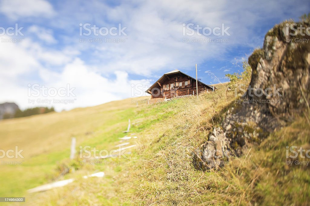 Cheese Making Chalet in Swiss Alps royalty-free stock photo