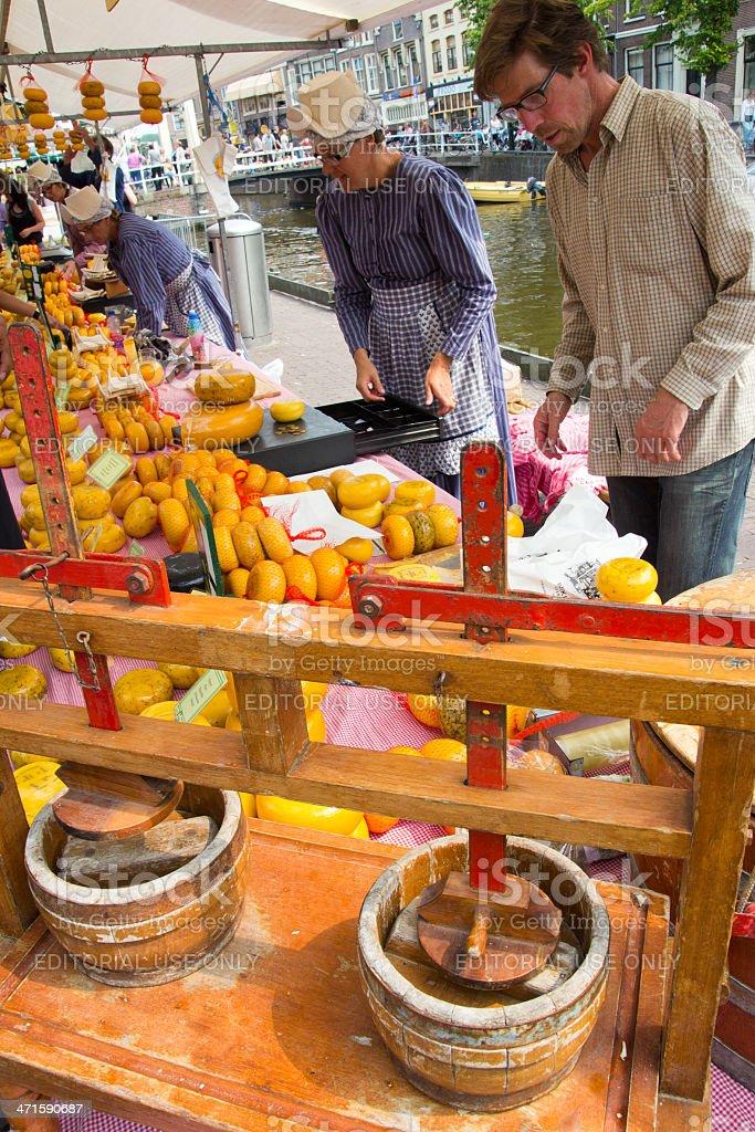 Cheese market royalty-free stock photo