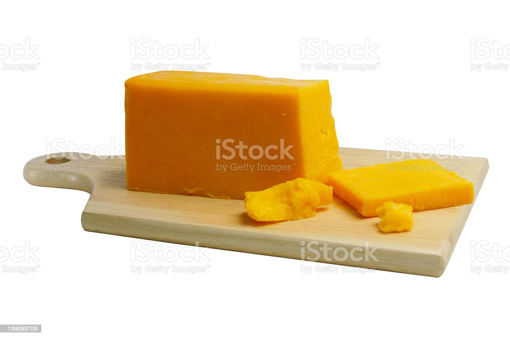 Cheese on Board with Clipping Path stock photo