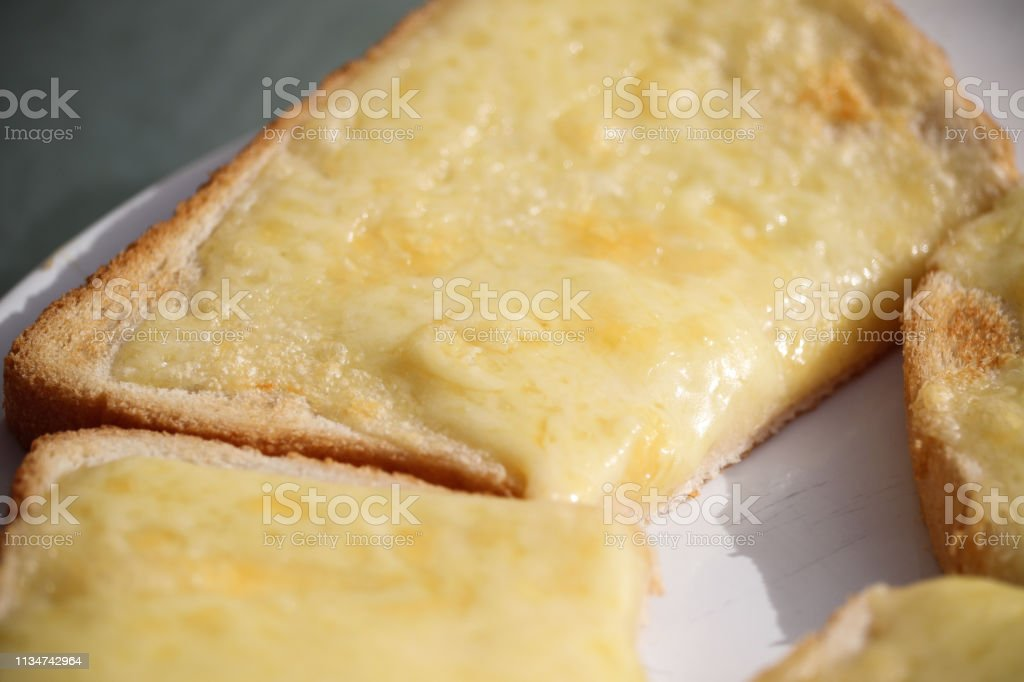 Cheese on toast - Royalty-free Appetizer Stock Photo