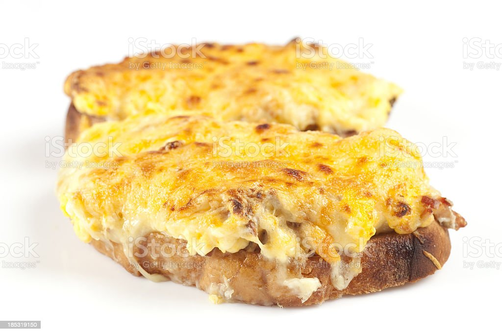 Cheese on toast royalty-free stock photo