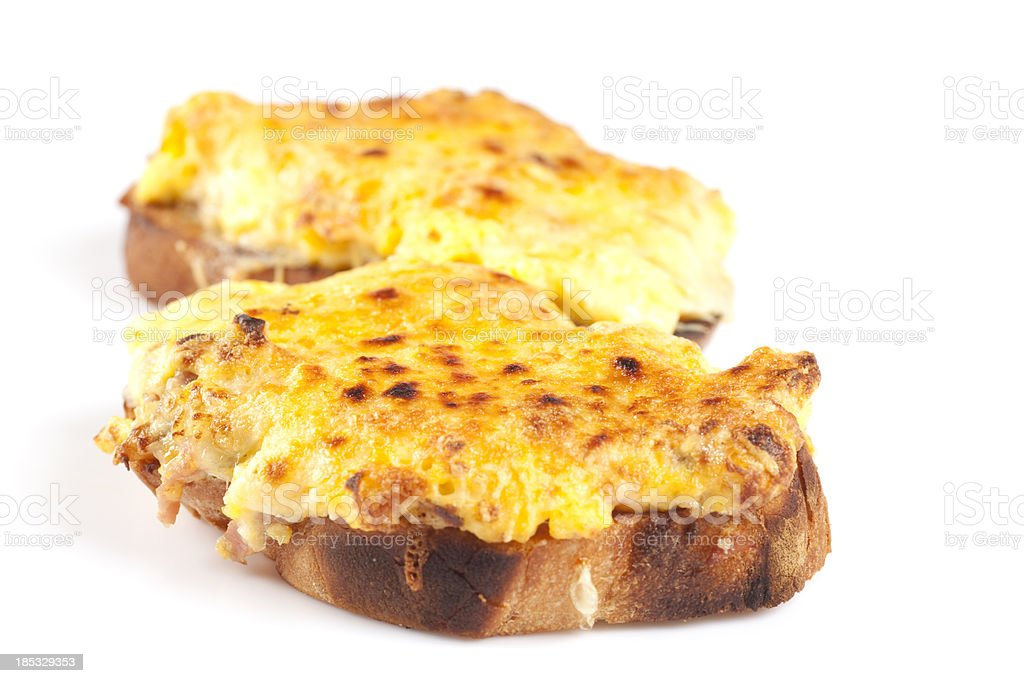 Cheese on toast stock photo