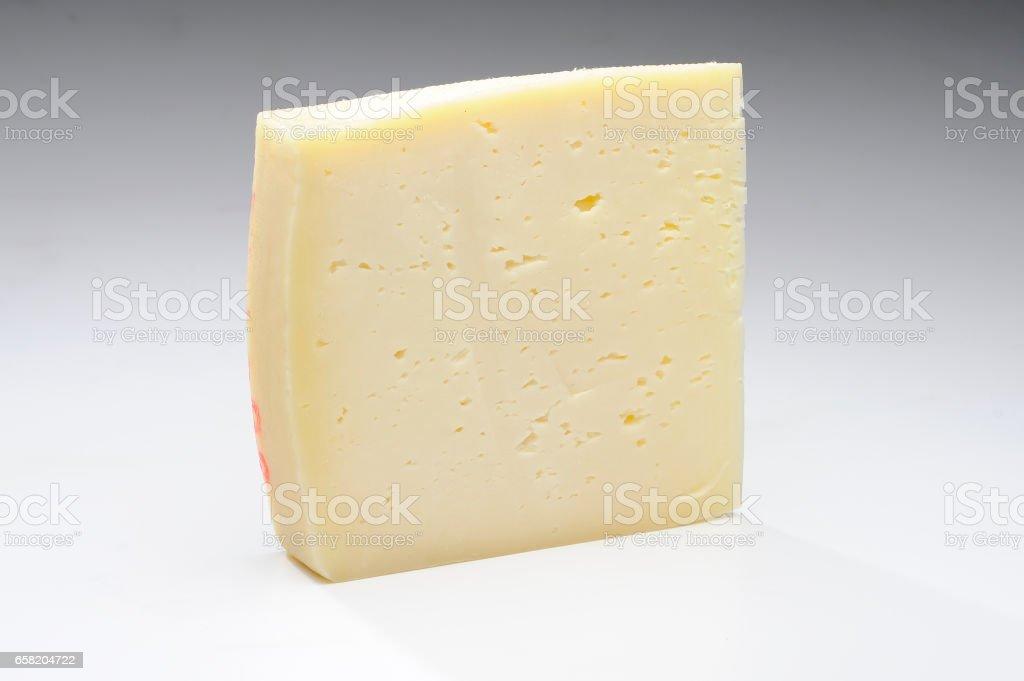 cheese on white background - foto stock