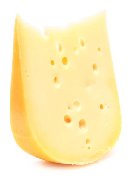 cheese on white - emmentaler foto e immagini stock