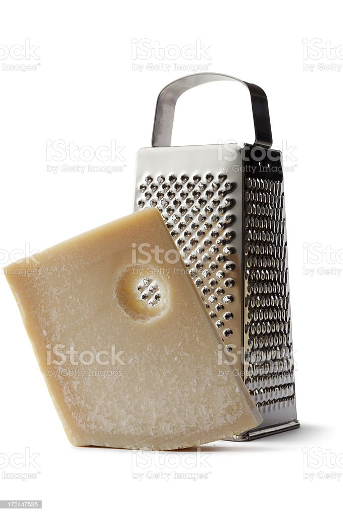 Cheese: Parmesan and Grater royalty-free stock photo