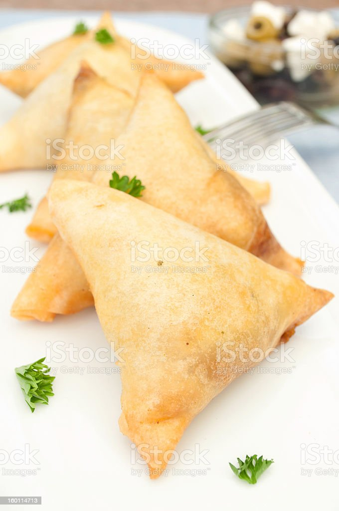 Cheese pastries stock photo