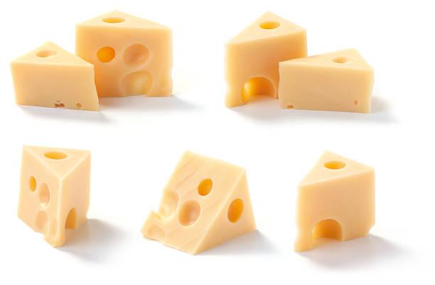 pezzi di formaggio - emmentaler foto e immagini stock