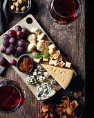 istock Cheese plate and red wine 996129532